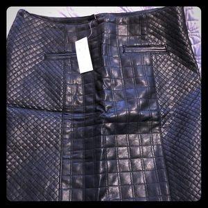 Ann Taylor Vegan Leather Skirt 4